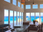 View of ocean from dining area
