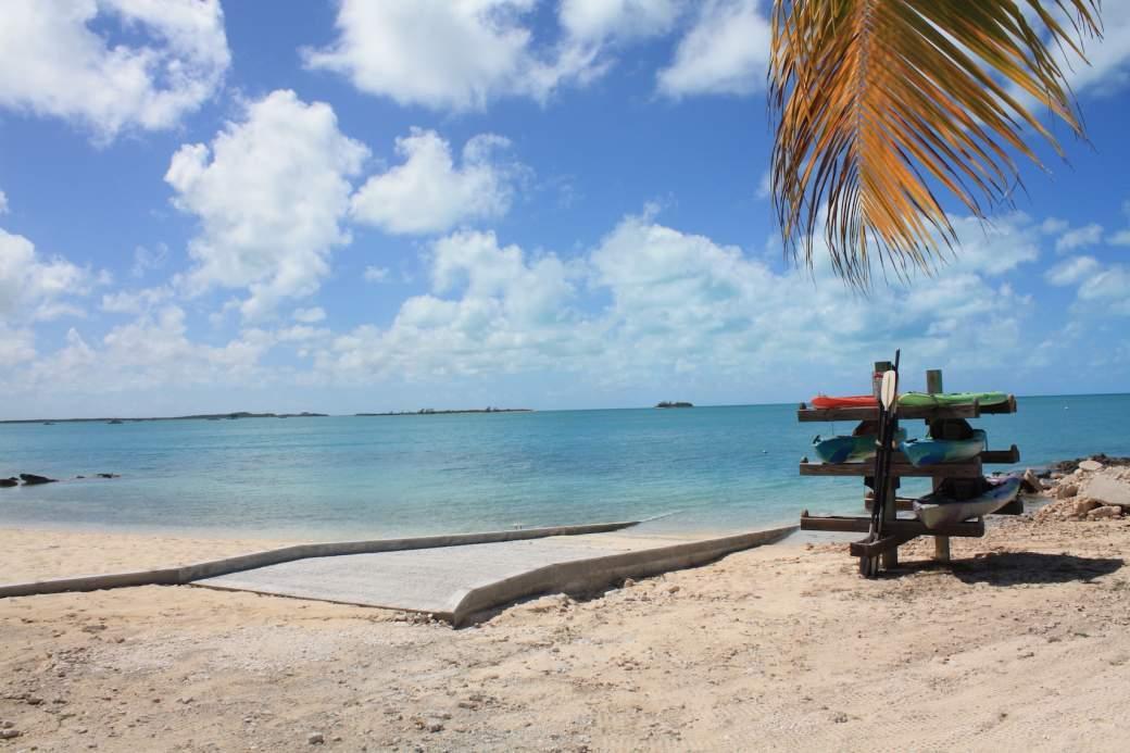Boat Ramp and Kayak stand