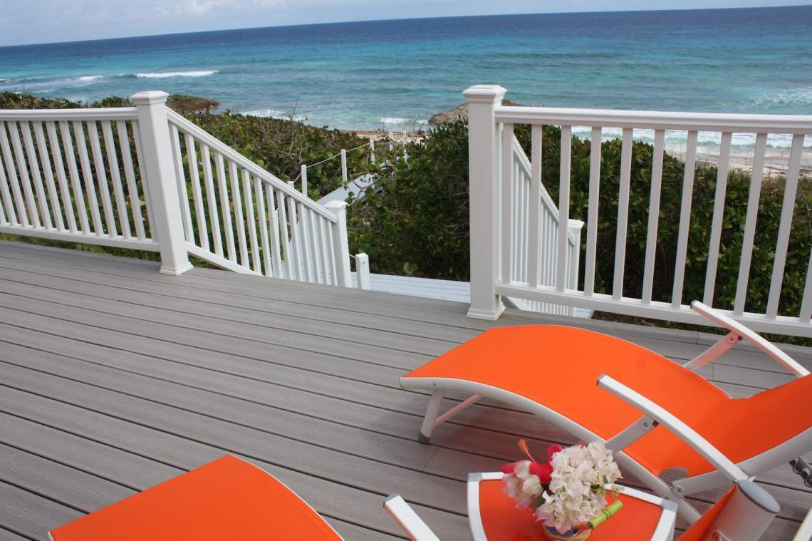 View from deck to beach