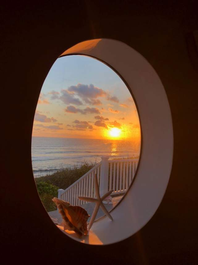 Sunrise with a view