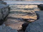 Nearby rocky cliffs