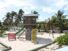 Play area for kids at the beach and pool area