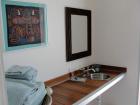 16a Bath VIP Ipe wood counter 40
