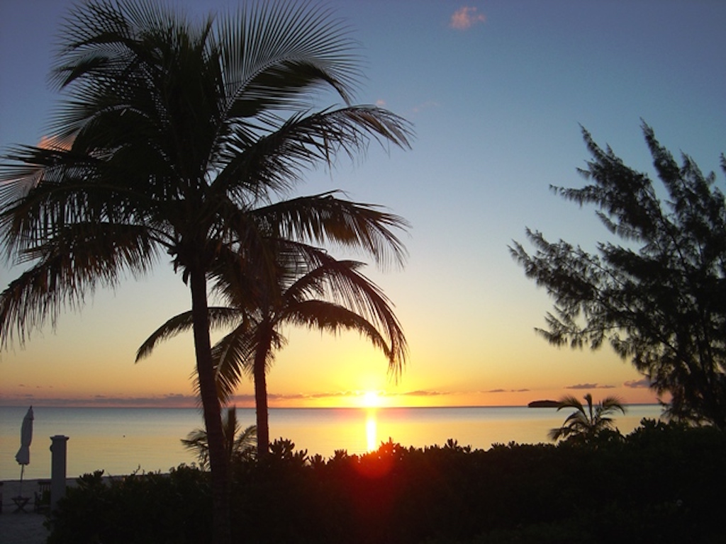 Sunset view at Sunset Beach and Gardens